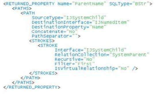 Model Accessing Relationships from COM+ Label Editor generates XML files • Use XML tags to access