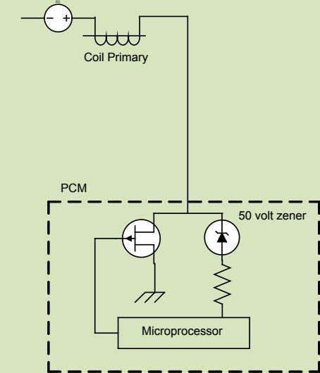 DC Coil Primary PCM 50 volt zener Microprocessor
