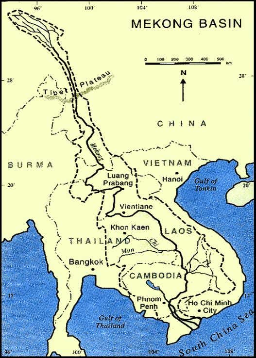 8 Figure 2-1 : Map of Mekong Countries The population of the Mekong region is 250