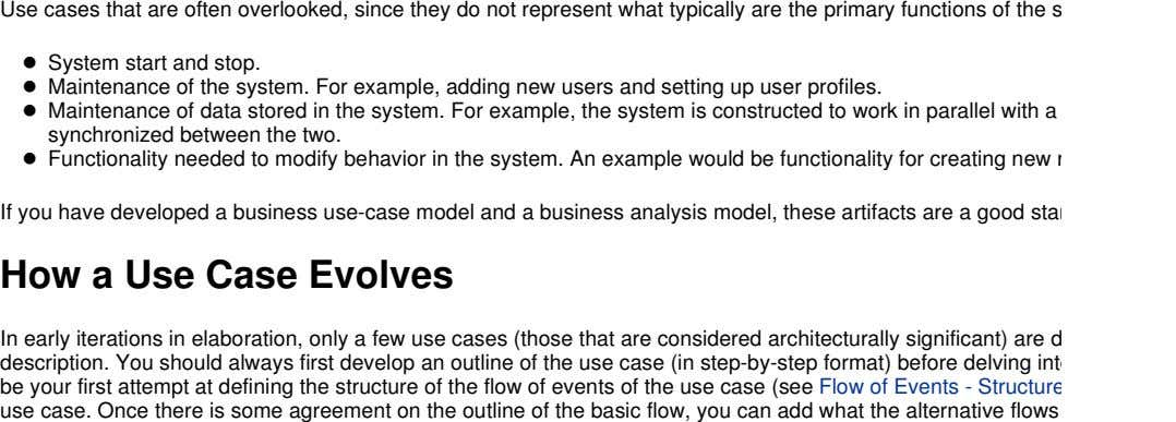 Use cases that are often overlooked, since they do not represent what typically are the
