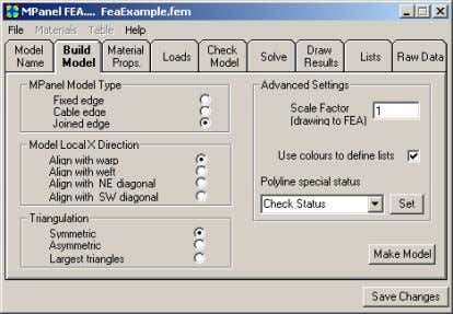 may have to scale your AutoCAD model to suit. Build Model The model definition is the
