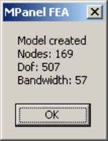 This window reports on the model build. The Bandwidth is an indication of how big