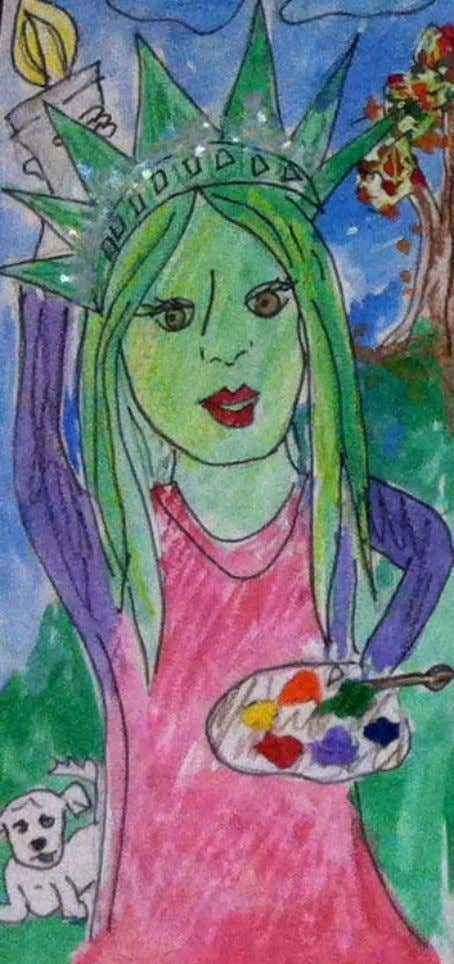 """Me…as Liberty!"" A Reflective Self-Portrait Lesson Created By Arianne O'Connor Mixed Media – Grade Four October"