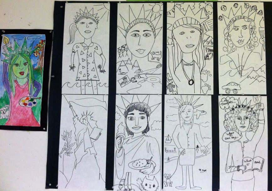 """Me… as Liberty"" The following Artist Educators artistically created the abstract portraits shown above on"