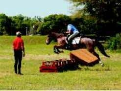 "Bill Hoos' eventing clinic at Canterbury Easter weekend Annie Kearley & Indy ""The clinic was great."
