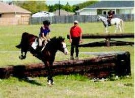 "readers"" ~Colleen Cunningham, Thinking Equestrian, LLC Barclay Powell is riding Mr. G ""My daughter, Barclay (14),"
