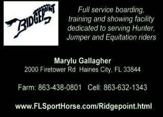 hopewellstables39@yahoo.com DanCristHorseTraining Full Partners Farm-Newberry Boarding Lessons Shows Camps