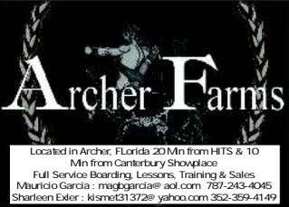 Located in Archer, FLorida 20 Min from HITS & 10 Min from Canterbury Showplace Full