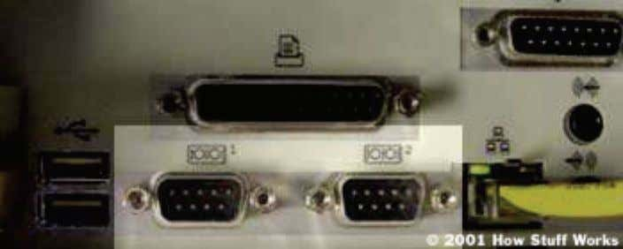 cameras. Few computers have more than two serial ports. Fig 2.2.1 Two serial ports on the