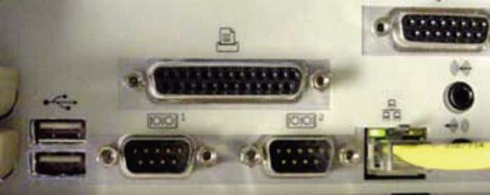 port is still a commonly used interface for printers. Fig 2.2.4 A typical parallel port on
