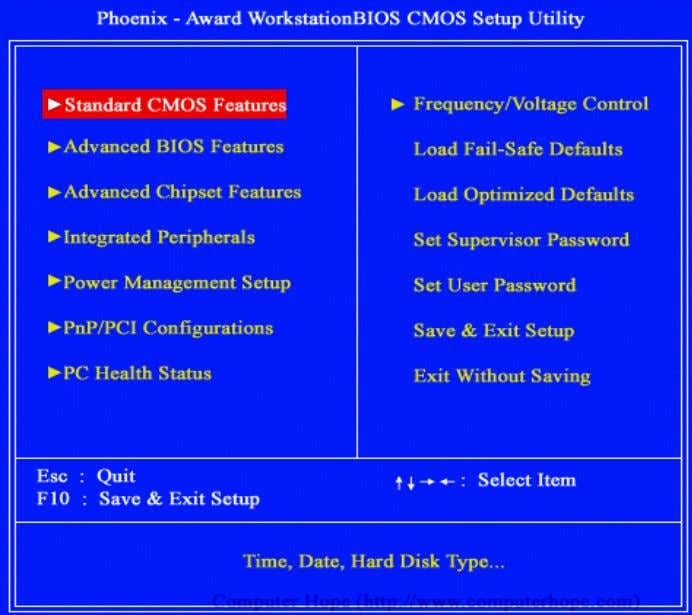 Chapter -2 Name : Bios Features and Configuration 45 Fig 3.2.1 CMOS setup Note: The above