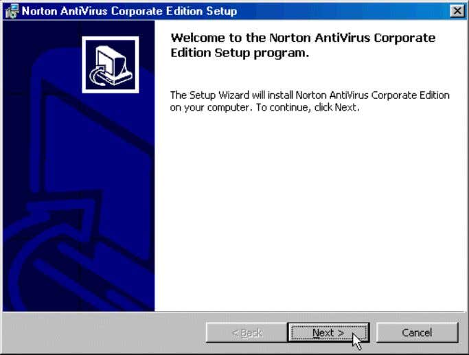 V Chapter -2 73 Name : Installation of Norton - Antivirus 1. To continue, accept the