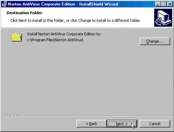 where Norton AntiVirus will be installed. Click Next . 1.In the Norton Setup Type window, select