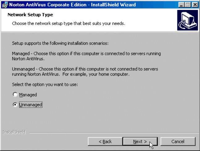 Chapter -2 75 Name : Installation of Norton - Antivirus 1. In the Initial Settings window,