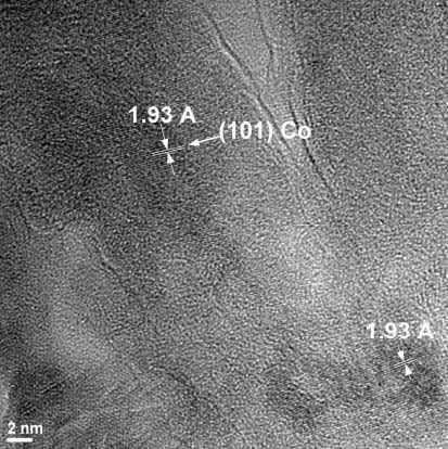 Fig. 4.2. Imagine SEM a sistemului nanotuburi de Pb/AAO Fig.4.3. Imagine HRTEM a sistemului nanotuburi de