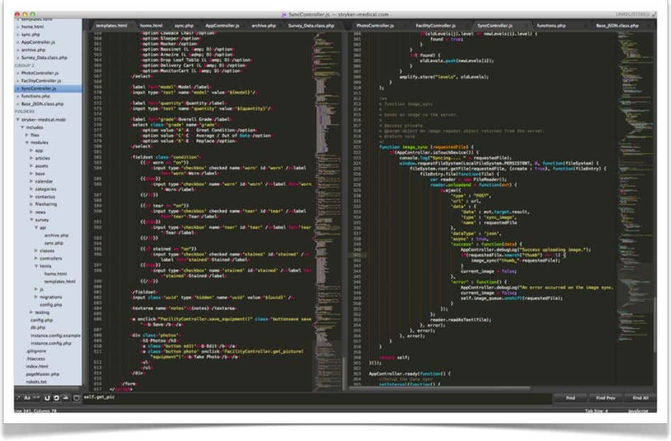Sublime Text http://www.sublimetext.com/