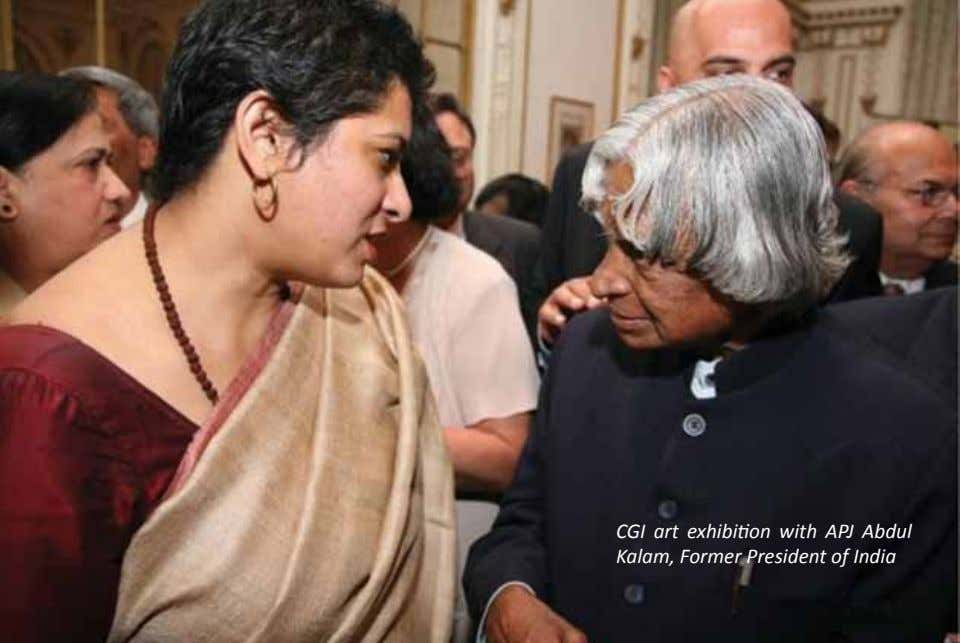 CGI art exhibition with APJ Abdul Kalam, Former President of India