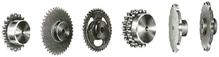 no slippage in a sprocket. 3.The shape of the teeth are different in gears and sprockets.