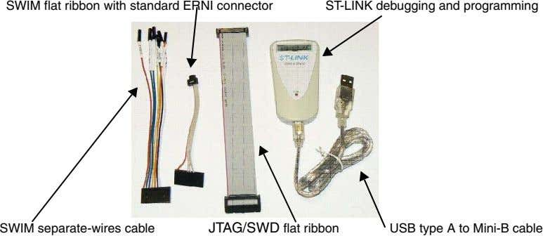 SWIM flat ribbon with standard ERNI connector ST-LINK debugging and programming SWIM separate-wires cable JTAG/SWD