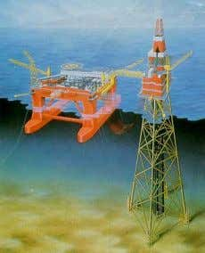 a) Semi- submersible and jacket b) FPSO and shuttle tanker Fig. 23: Special offshore collision