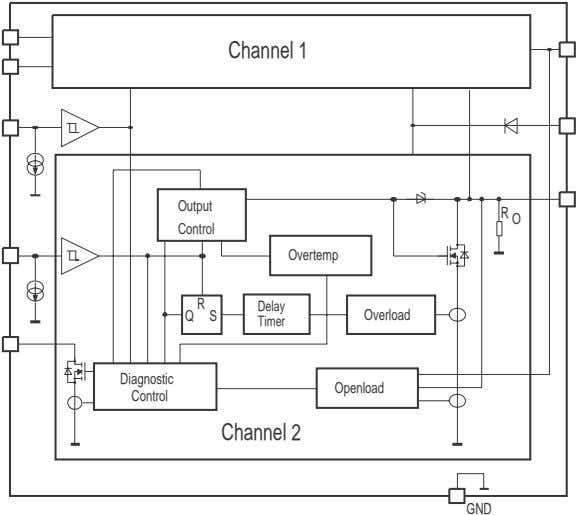 Channel 1 Output R O Control Overtemp R Delay Q S Overload Timer Diagnostic Openload