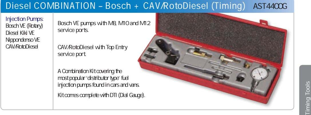 Diesel COMBINATION – Bosch + CAV/RotoDiesel (Timing) AST4400G Injection Pumps: Bosch VE (Rotary) Diesel Kiki
