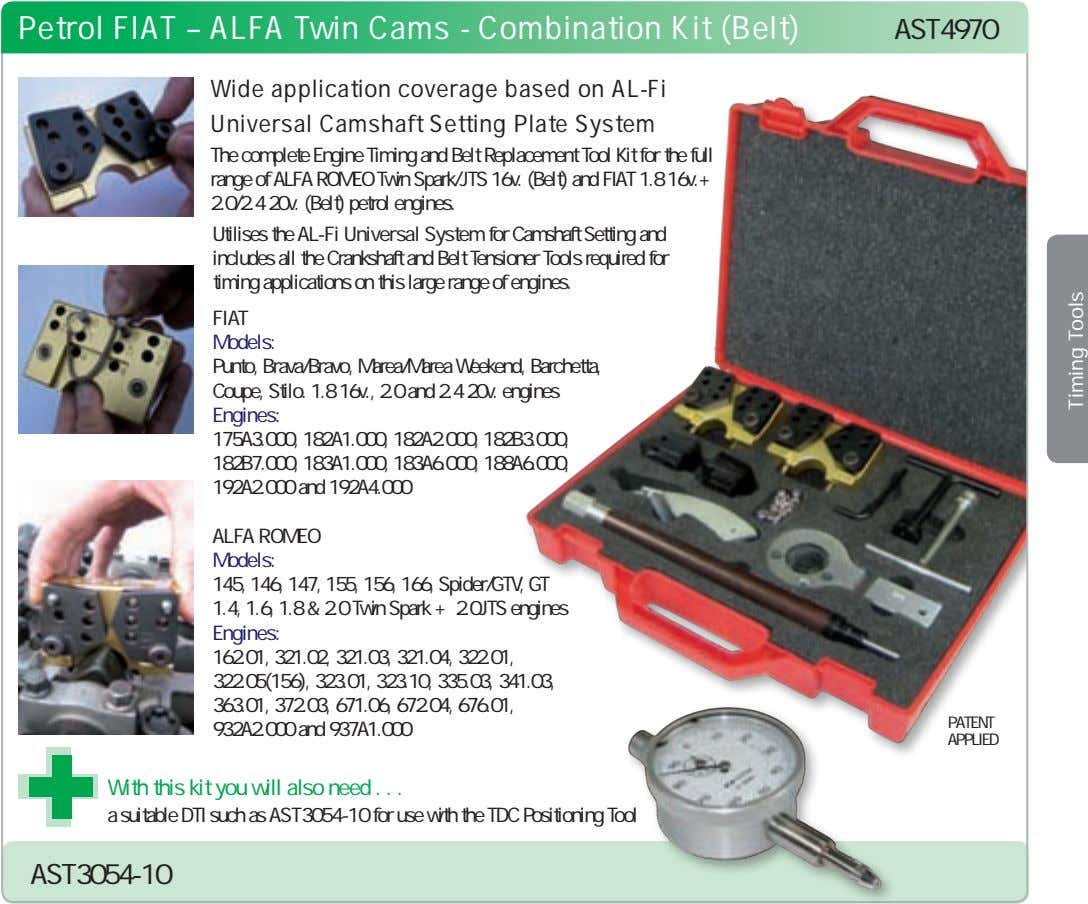Petrol FIAT – ALFA Twin Cams - Combination Kit (Belt) AST4970 Wide application coverage based