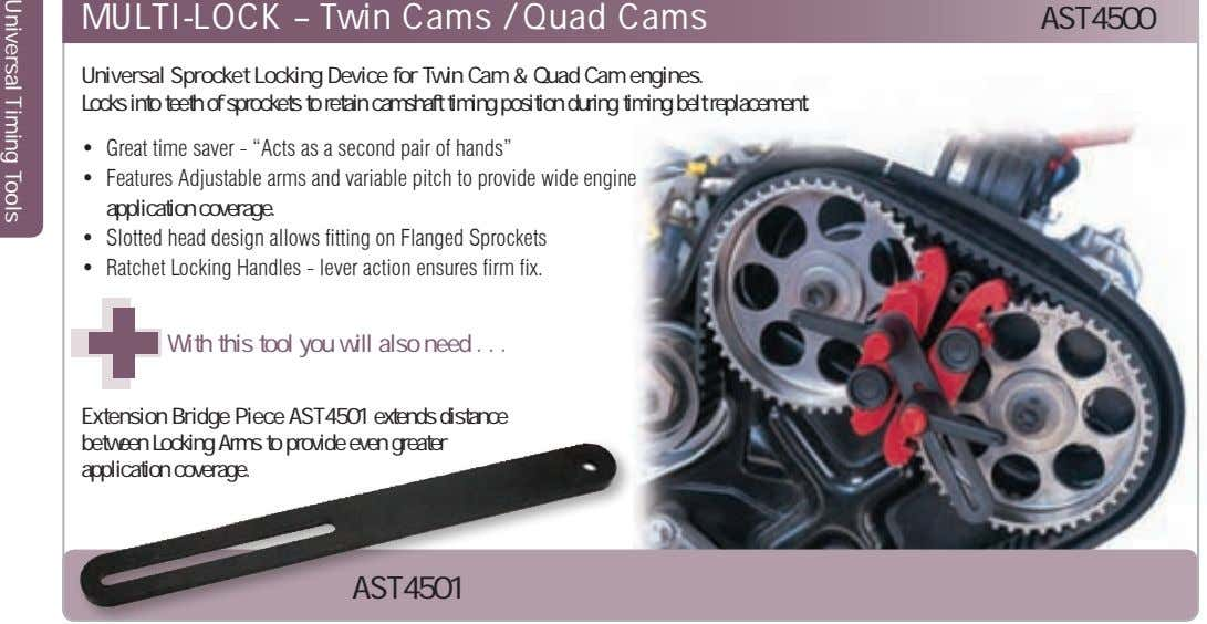 MULTI-LOCK – Twin Cams / Quad Cams AST4500 Universal Sprocket Locking Device for Twin Cam