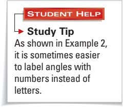STUDENT HELP Study Tip As shown in Example 2, it is sometimes easier to label