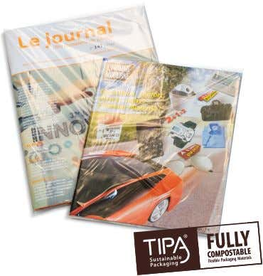 Packaging Formats Flow Wrap Package TP 302 Applications • Magazines and newspapers Technical Data • Co-extruded