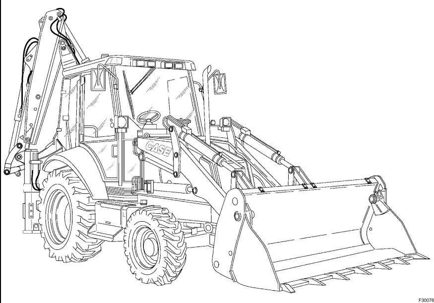 SECTION 1 TO THE OWNER 590 Super R and 695 Super R LOADER BACKHOES Type shown:
