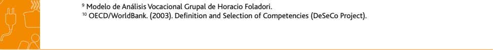 9 Modelo de Análisis Vocacional Grupal de Horacio Foladori. 10 OECD/WorldBank. (2003). Definition and Selection