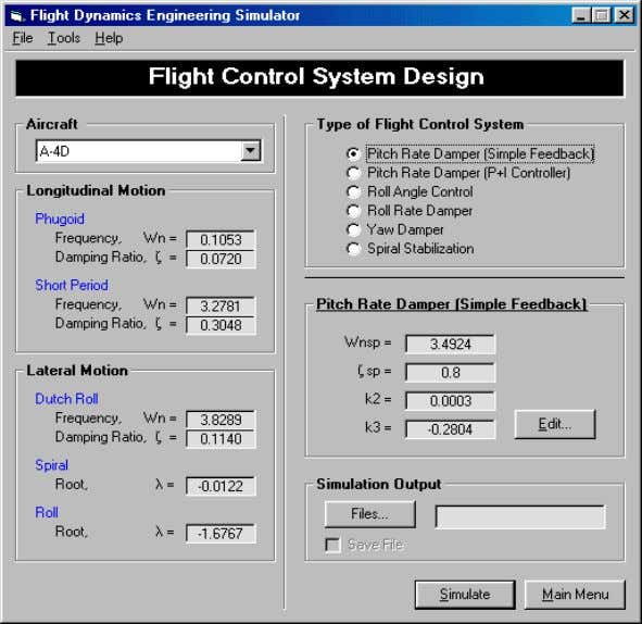 as a function of aerodynamic stability and control derivatives. Figure 15 Selection of flight control system