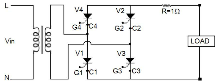 • Thyristor • Connecting leads Circuit Diagram: Theory: Firing or triggering a thyristor means to apply