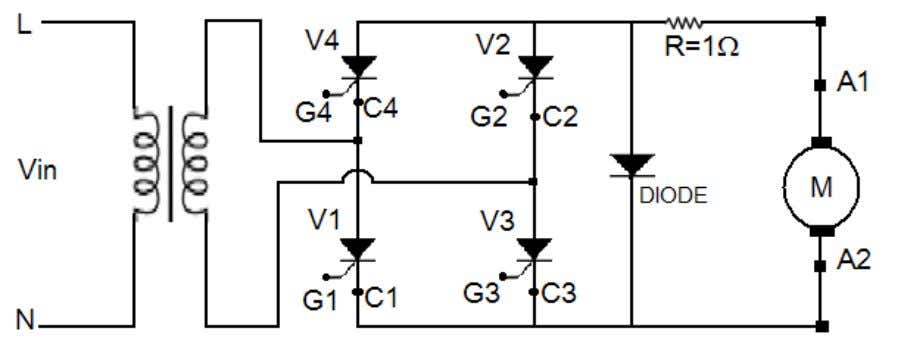 Commutating Diode • Connecting leads Circuit Diagram: Theory: Firing or triggering a thyristor means to apply
