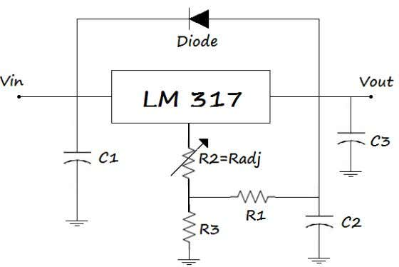 • Bread board • Connecting wires Circuit Diagram: Theory: LM317 REGULATOR: The LM317 series of ad