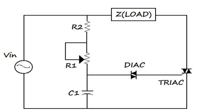 • Power Supply • Oscilloscope Circuit Diagram: THEORY: The TRIC is triggered by po sitive gate