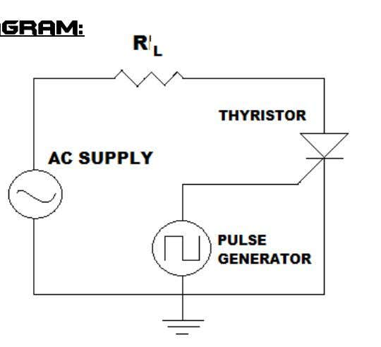 Supply • Resistors • Thyristor • Connecting leads Circuit Diagram: Theory: THYRISTOR: The thyristor is a