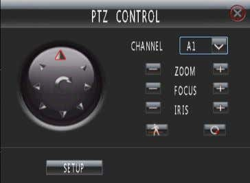 """PTZ"" key on front panel to enter PTZ control mode. Fig. 16 In the interface, the"