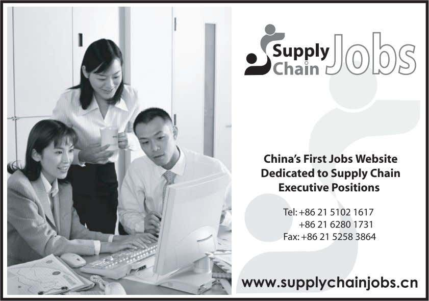 Having problems promoting your supply chain services in China? 2007 China Supply Chain and Logistics