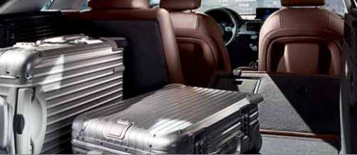 for improved insulation of the windscreen and acoustic glass for reduced outside noise Split-folding rear seats