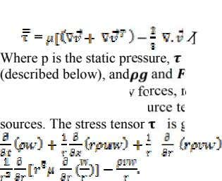 = I] Where p is the static pressure, (described below), and and sources. The stress