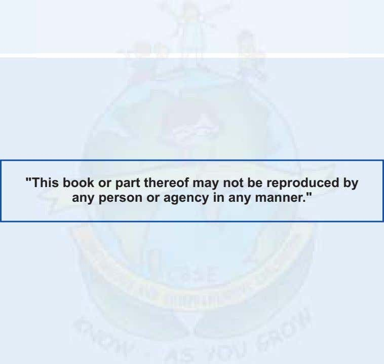 """This book or part thereof may not be reproduced by any person or agency in"