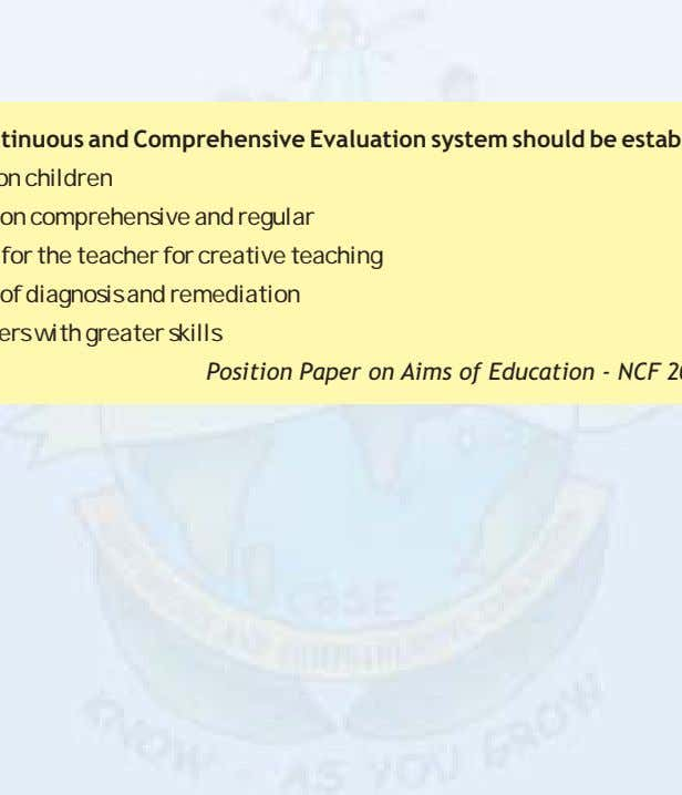 a workable school based continuous and comprehensive scheme. School Based Continuous and Comprehensive Evaluation system