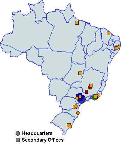 Sapucaí) PE/VC Organizations' Geographical Distribution Headquarters * Includes Campinas, Itu, Correas, Curitiba,