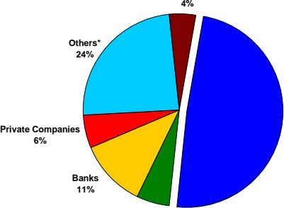 4% Others* 24% Private Companies 6% Banks 11%