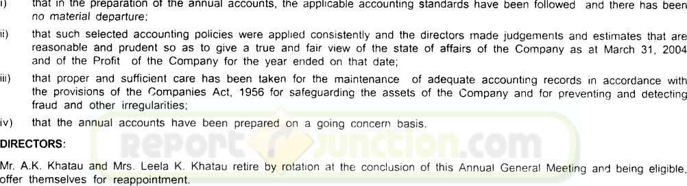 that in the preparation of the annual accounts, the applicable accounting standards have been followed no