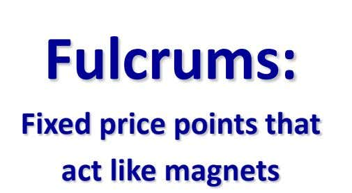 Fulcrums: Fixed price points that act like magnets