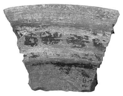 Groupe Orange Assouan , thermes de Latrun, US 420.87. Fig. 8. Plat à marli peint, ateliers