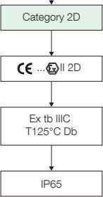 Category 2D II 2D Ex tb IIIC T125°C Db IP65
